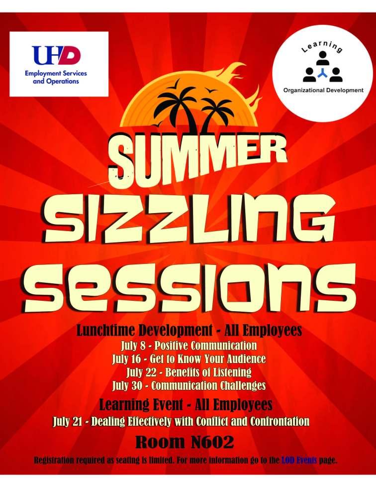 Summer Training Flyer