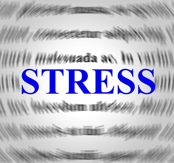 Stress Definition Representing Overworked Stressing And Sense