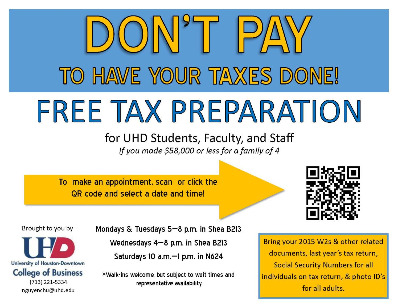 Tax workshop Flyer